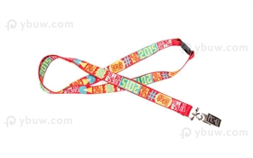Red Dye Sublimated Lanyard-DSL20cxB