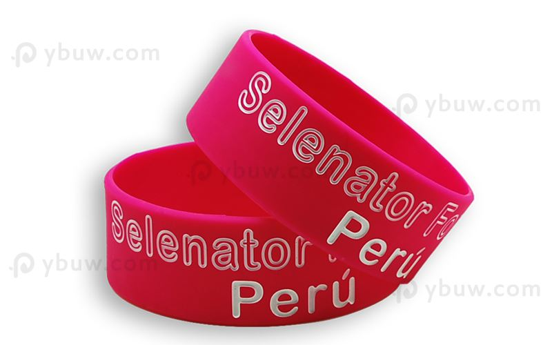 1inch Pink Color-Filled Wristband Bracelets