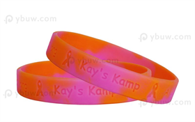 Swirled Debossed Silicone Wristband-DW12ASW