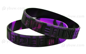 Swirled Debossed Silicone Wristband-DW12ASO