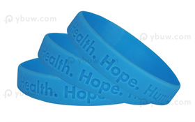 Light Blue Debossed Silicone Wristband-DW12ASO
