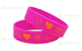 Solid Printed Silicone Wristband-PW19ASO