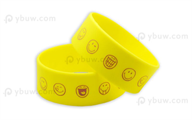 Yellow Printed Wrist Bands-PW25ASO