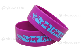 Solid Printed Silicone Wristband-PW25ASO