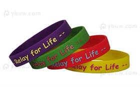 Solid Printed Silicone Wristband-PW12ASO