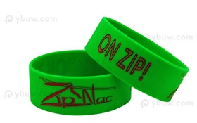3/4 inch Green Color-Filled Rubber Bracelets