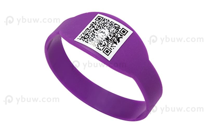 Purple Printed Figured Wristband