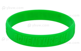 Green Embossed Silicone Wristband-EW12ASO