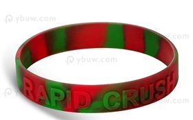Swirl Embossed Silicone Wristband-EW12ASW