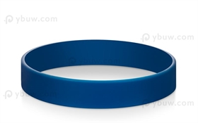 Blue Solid Blank Wristbands