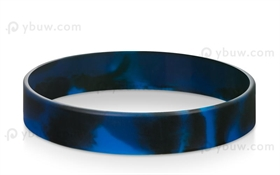 Black Blue Swirled Blank Wristbands