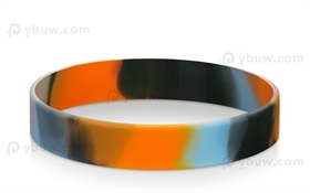 Black Light blue Orange Swirled Wrist Bracelets