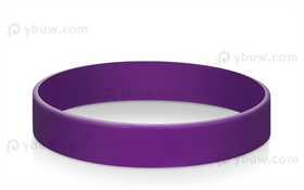 Purple Solid Blank Wristbands