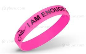 Solid Embossed Printed Silicone Wristband-EPW12ASO