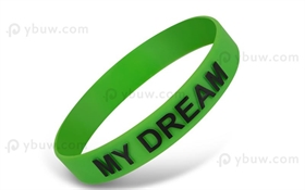 Green Embossed Printed  Wristband-EPW12ASO