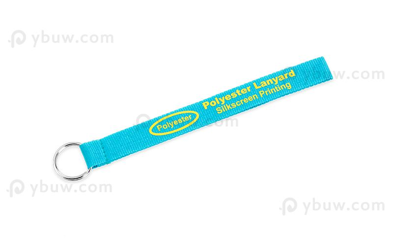 Royal Blue Short Polyester Lanyard-SPL20atxS