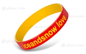 Red Duel Layer Wristband-DLW12ASO
