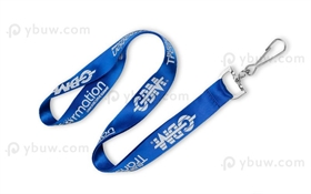 Royal Blue Nylon Lanyard-NL20dxS