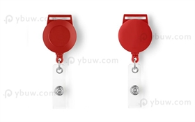 Red Retractable Badge Reel Style A