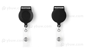 Black Retractable Badge Reel Style A