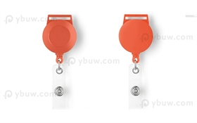 Orange Retractable Badge Reel Style A