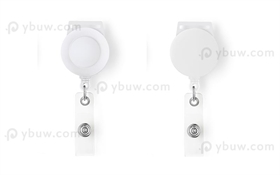 White Retractable Badge Reel Style A