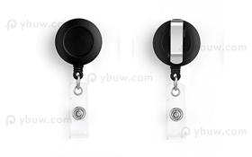 Black Belt Clip Badge Reel