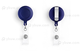 Blue Belt Clip Badge Reel