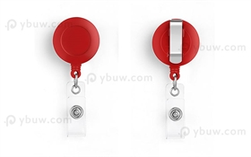 Red Belt Clip Badge Reel