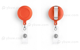 Orange Belt Clip Badge Reel