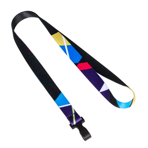 "5/8"" (15mm) Pattern 6 Full Color Lanyards  with Plastic Hook-3F3F"