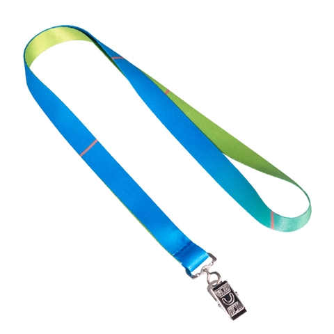"5/8""(15mm) Blue Green Lanyards with Bulldog Clip-LRLE"