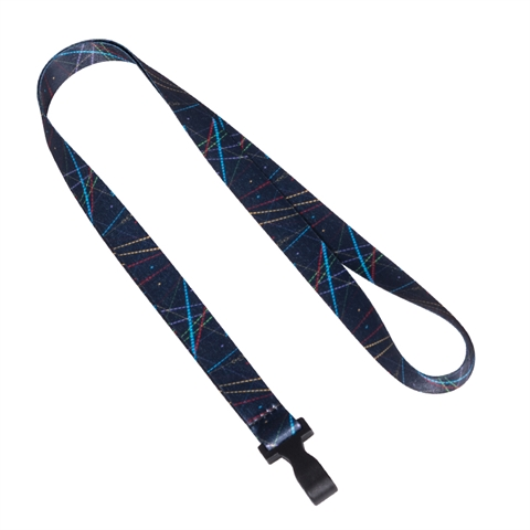 "5/8""(15mm) Colorful Lines Lanyards with Plastic Hook-N936"