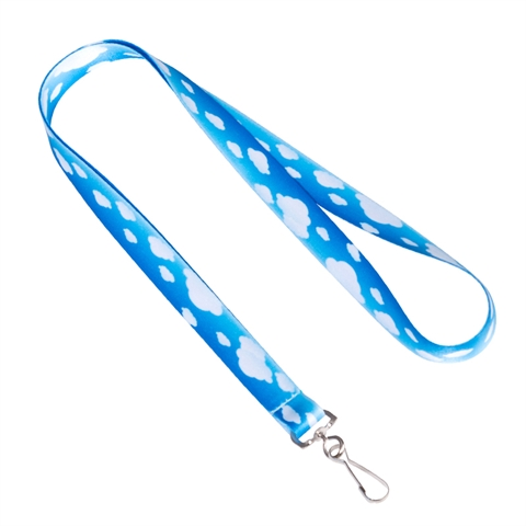 "5/8""(15mm) Sky Blue Lanyards with Swivel Hook-2VYD"