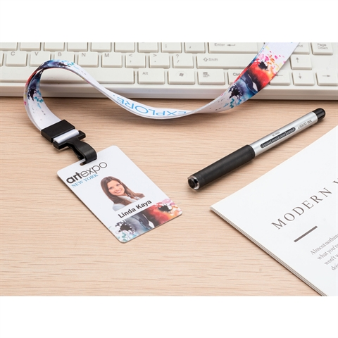 "3/4""(20mm) Full Color Lanyards with PVC ID Card-TWDG"