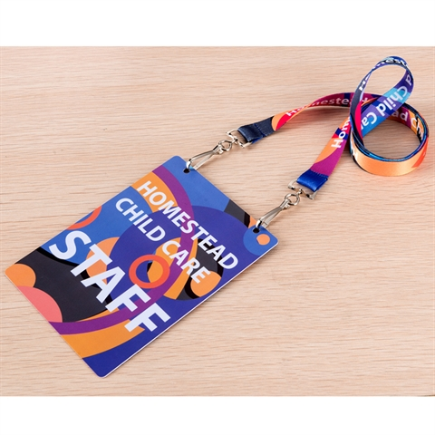 "5/8"" (15mm) Flat Open Ended Lanyards with Two Swivel Hooks and PVC ID Card-8EGM"