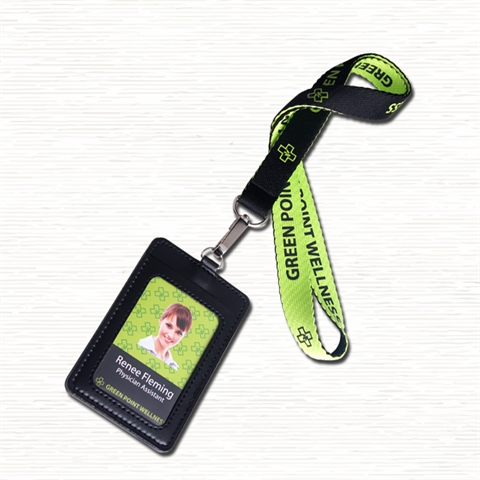 3/4''(20mm) Special Elegant Lanyards with PU Badge Holder-GXHN