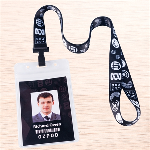 "3/4""(20mm) Full Color Lanyards with Vertical Badge Holder-GXYD"