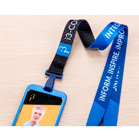 "3/4""(20mm) Full Color Lanyards with Aluminium Badge Holder-B26N"