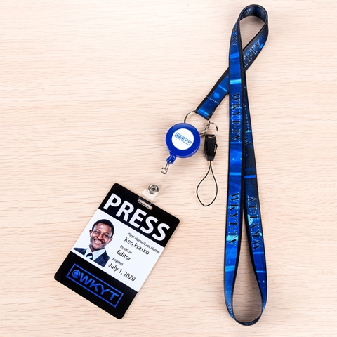 "5/8"" (15mm) Retractable  Lanyards with Phone Loop and PVC Card-4KBW"