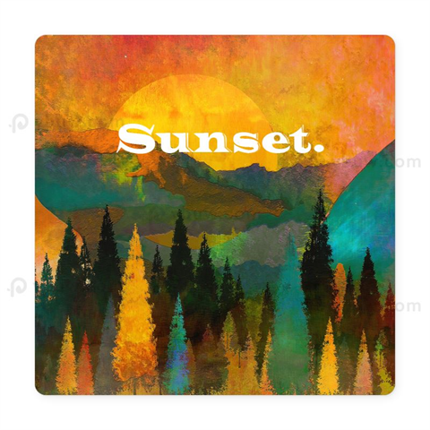 Printed Square Vinyl Coaster For Drinks