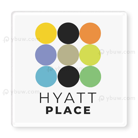 Custom Clear Square Acrylic Coasters With Printed Logo